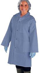 UltraSource 460016-L Smock, 3 Pockets, Long Sleeve, Large, Navy