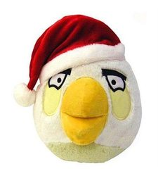 Angry Birds Limited Editi on Christmas Plush - White Bird - Size: 8""