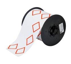 "Brady B30-262-7569-CLP4A  Vinyl Film, 4.000"" x 6.000"" BBP31 2 Color GHS Vinyl Tape - 4 Diamond (1 Roll of 200 Labels )"