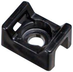 "Panduit SGTM3S10-C0 Super-Grip Calbe Tie Mount, Screw Applied, #10 Screw Mounting Method, 0.38"" Counterbore Diameter, 0.43"" Height, 0.61"" Width, 0.91"" Length (Pack of 100)"