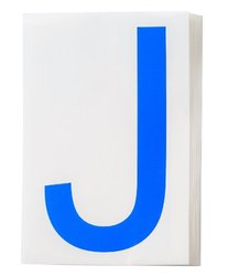 "Brady 121749 ToughStripe Die-Cut Polyester Tape, Blue Letter ""J""(Pack of 20)"