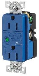 Spike Shield Circuit Guard Specification Grade Duplex Receptacle w/ Light
