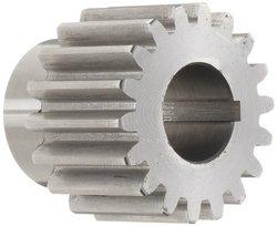 """Boston Gear YF18 Spur Gear, Steel, Inch, 10 Pitch, 0.750"""" Bore, 2.000"""" OD, 1.250"""" Face Width, 18 Teeth"""