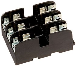 Mersen 40323G Class G Fuse Block with Pressure Plate and Quick Connector, 480V #10-14 Cu Wire Size, 30 Ampere, 3 Pole
