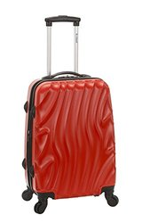 Rockland Melbourne 20-Inch Hardside Wave Spinner Carry-On Luggage Red