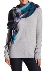 Steve Madden Women's Plaid Lurex Blanket Wrap - Cools