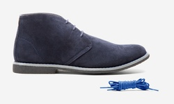 Oak & Rush Micro suede Mens's Chukka Boot - Navy - Size: 11