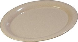 "Carlisle 4308071 Durus Melamine Oval Serving / Dinner Platter, 13.5"" x 10.5"", Sand (Pack of 12)"