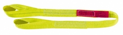 """Lift-All 3"""" x 14' 2-ply Polyester Web Eye & Eye Sling with Twisted Eye"""