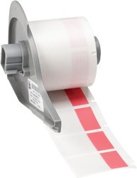 Brady Self-Laminating Vinyl BMP71 Labels - 250 per Roll - Red/Translucent