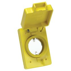 Woodhead 6702 Watertite Flip Lid Receptacle Replacement Cover, Single, Fits All 20A Locking 2-Hole Connector Inserts