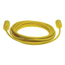 Woodhead 1448A143 Super-Safeway Cordset, Industrial Duty, Straight Blade, 2 Poles, 3 Wires, NEMA 6-20 Configuration, 14-Gauge SOOW Cord, Rubber, Yellow, 20A Current, 250V Voltage, 25ft Cord Length
