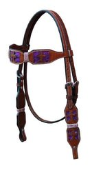 Turn-Two Browband Headstall - St. Gabriel - Size:Horse Color:Purple