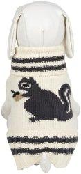 "Fab Dog Knit Turtleneck Dog Sweater Squirrel, Cream, 12"" Length"