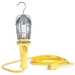 Woodhead 106B163 Super-Safeway Handlamp, Industrial Duty, Incandescent Bulb, 100W Max Lamp Wattage, Screw Release Guard, 16/3 SOOW Cord Type, 50ft Cord Length