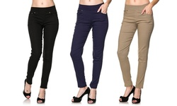 Women's Super-Stretch Skinny Pants - 3-Pack - Assorted - Size: S/M