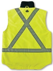 Ergodyne GLoWear  8378X Class-2X-Back Thermal Vest, Lime, Small