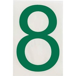 "Brady 121898, ToughStripe Die-Cut Numbers and Letters, 4"" x 8"" GREEN (Pack of 10 pcs)"