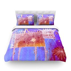 "Kess InHouse Marianna Tankelevich ""Scary Song About Love"" 104 by 88-Inch Cotton Duvet Cover, King"