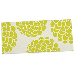 "KESS InHouse Pom Graphic Design ""Grape Blossoms"" Yellow Circles Office Desk Mat, Blotter, Pad, Mousepad, 13 x 26-Inches"