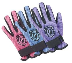 Ovation Child's Mesh Back Glove Horse Crest