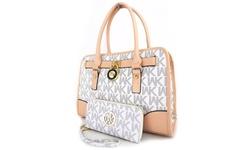 WK Collection Handbag Set - 2-Piece - White/Beige