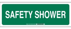 "Brady 7"" X 20"" Legend ""Safety Shower"" Premium Fiberglass First Aid Sign"