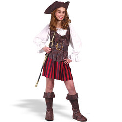 Fun World Girl's High Seas Buccaneer Child Costume - Multi - Size: Medium