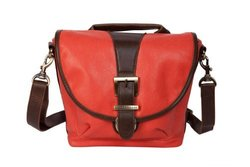 Kelly Moore Riva Camera Bag with Adjustable Messenger Strap & Shoulder Pad (Tangerine)