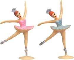 """Large Ballerina Cake Toppers - 5"""" Tall - 24 Pieces"""