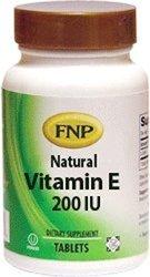 Freeda FNP Natural Vitamin E 200 IU with Mixed Tocopherols - 90 Tablets