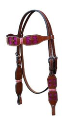 Turn-Two Browband Headstall - St. Gabriel (468948PINK HRSE)