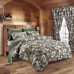 Regal Comfort Woodland Camouflage Print Sheet Set (Twin)