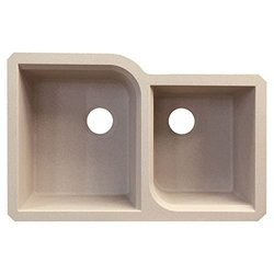 "Transolid 20.75"" W x 31.75"" L Double Undermount Kitchen Sink - Cafe Latte"