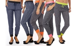 Women's Joggers: Navy & Black (2)-black-neon Orange-gray & Black/large