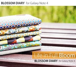 araree Blossom Diary Case for Galaxy Note 4 - Oatmeal
