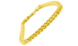 Rel Men's 14K Solid Yellow Gold Franco Bracelet - Gold