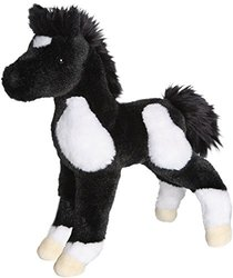 "Runner Black and White Paint Foal 10"" by Douglas Cuddle Toys"