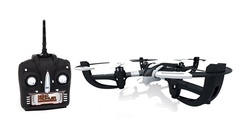 4.5CH 2.4GHz Nano Prowler RC Drone with 360 degree Flip Stunt -White/Black