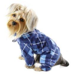 Klippo Pet Argyle Pattern Fleece Turtleneck Dog Pajamas / Bodysuit