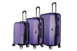 Brio Luggage Hardside Spinner Luggage 3-Piece Set - Light Purple