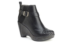 JBU Women's Amberia Wedge Bootie - Black - Size: 9.5