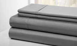 Wexley Home 300TC 100% Cotton Super Soft Sheet Set - Gray - King