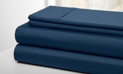 Wexley Home 300TC 100% Cotton Super Soft Sheet Set - Navy - Full