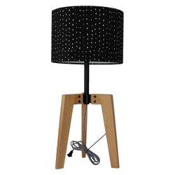 Threshold Wood Black Shade Table Lamp - Multi Colored