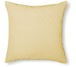 Threshold Velvet Square Decorative Pillow - Yellow