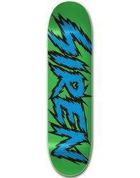 Siren Team Shocker Skateboard Deck - Green/Blue - Size: 8.5