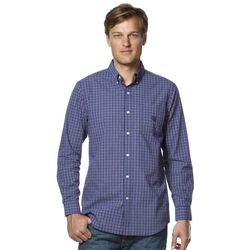 Men's Chaps Plaid Easy-Care Poplin Shirt - Vista Purple - Size: Large