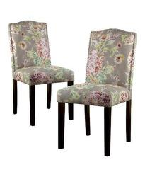 Threshold Camelot Nailhead Dining Chair - Pink/Brown Floral - Set of 2