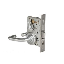 "2"" 7-Pin Solid Tube Return Office Standard Lever Lock - Satin Chrome"